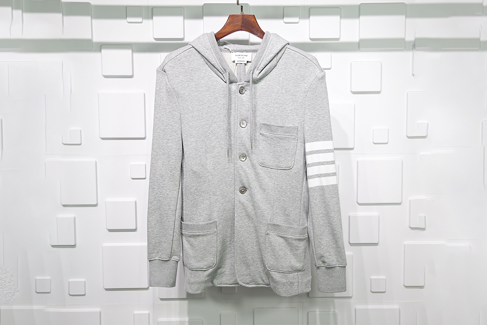 Thom Browne Button Jacket Grey